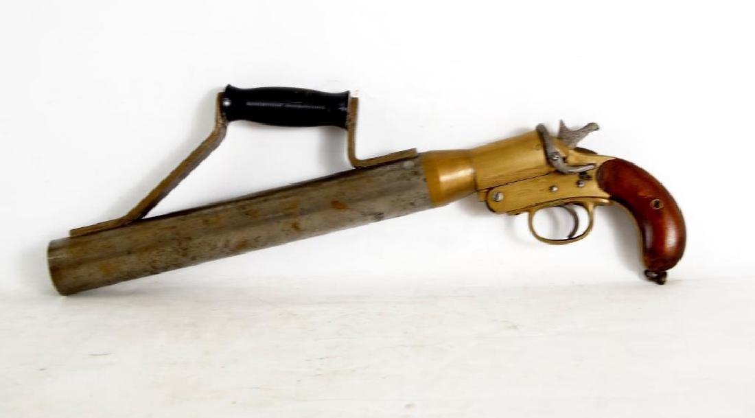 WWI Era English Schermuly Line Throwing Pistol - 5
