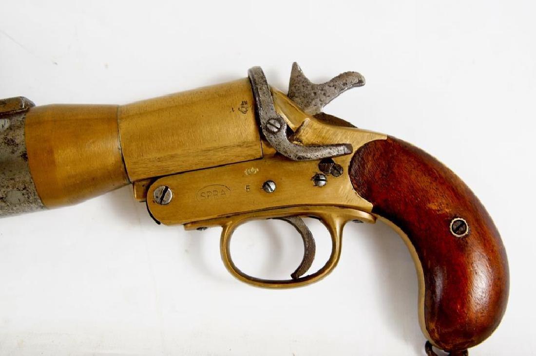 WWI Era English Schermuly Line Throwing Pistol - 6