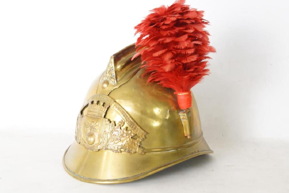 French antique Fire helmet