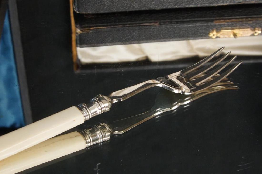 Rare Engraved Lobster knives + Knife & Fork set - 10