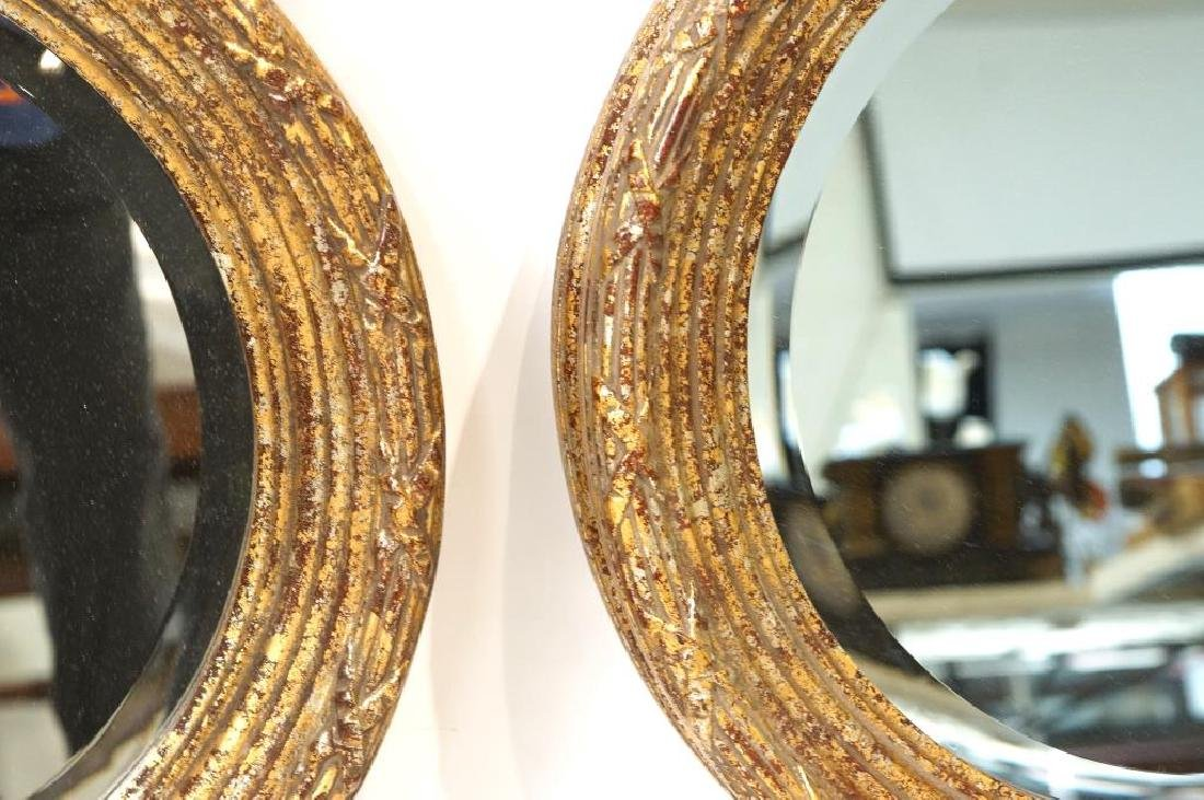 French Style round Gold/Silver Leaf mirrors - 2