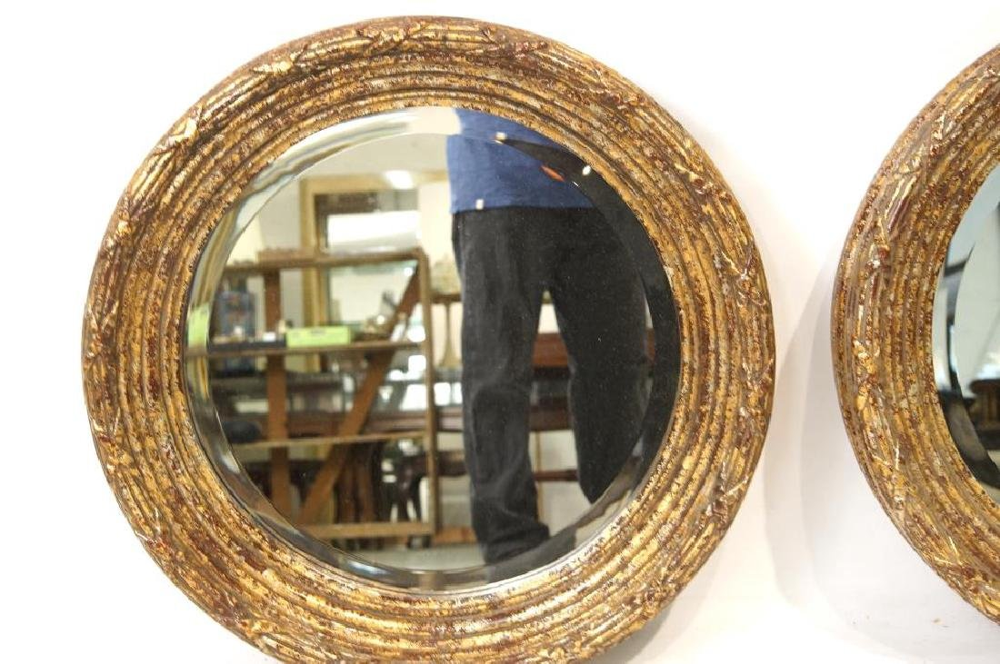 French Style round Gold/Silver Leaf mirrors - 5