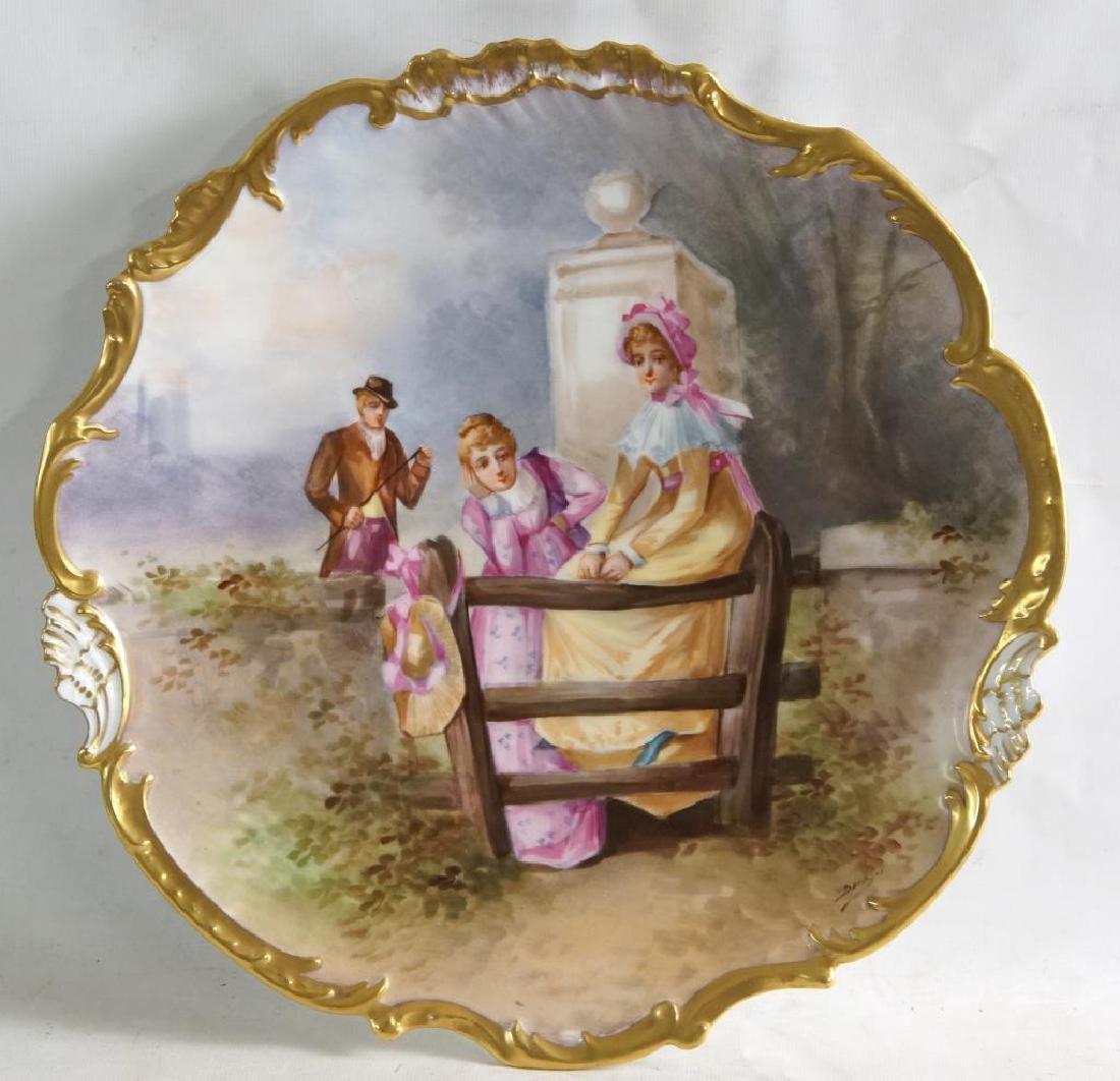 Limoges porcelain platter - pictorial