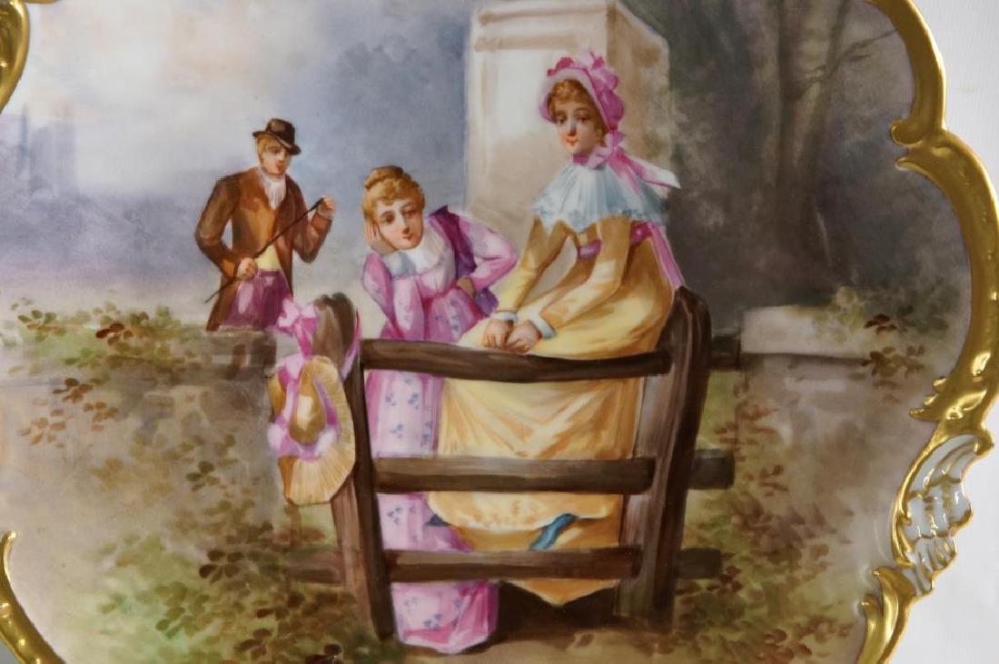 Limoges porcelain platter - pictorial - 2