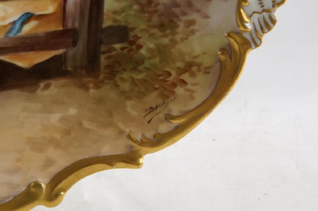 Limoges porcelain platter - pictorial - 3