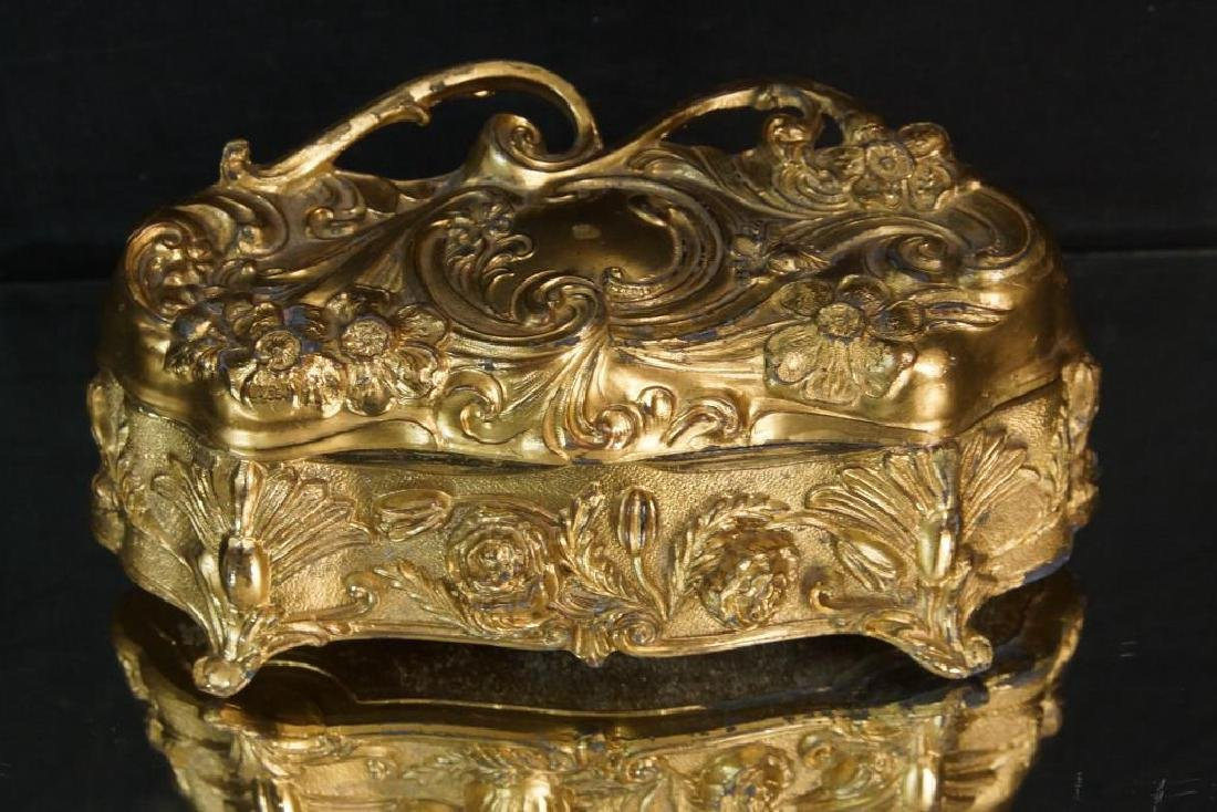 Nouveau Bronze jewelry casket