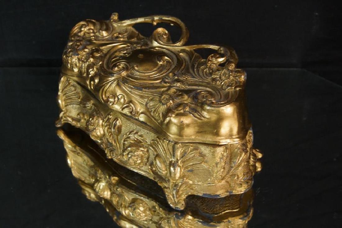 Nouveau Bronze jewelry casket - 3