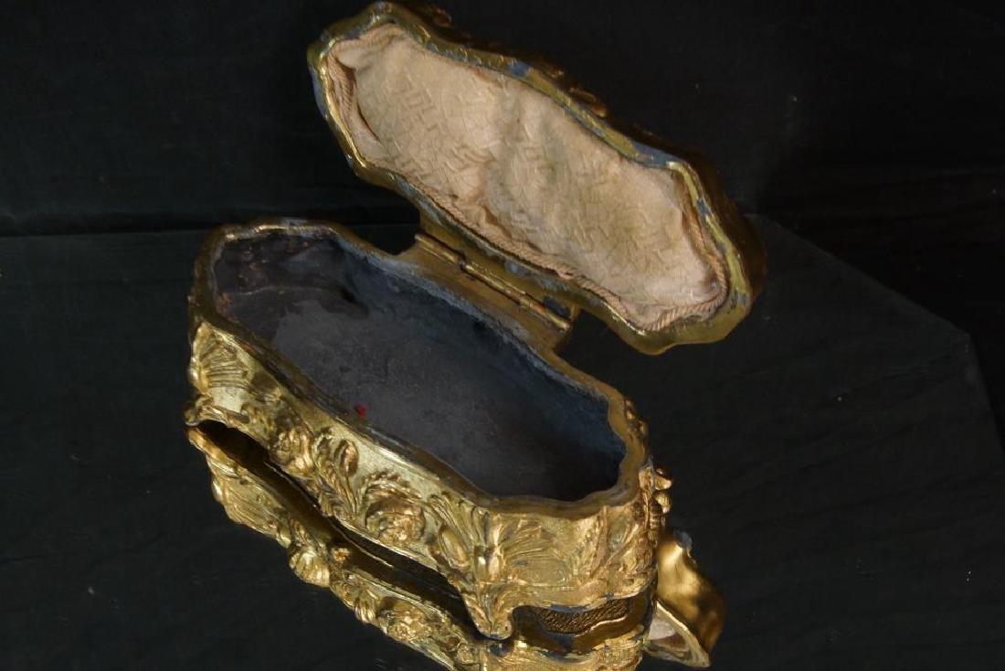 Nouveau Bronze jewelry casket - 4