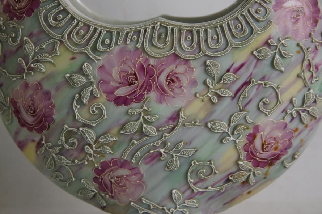 Nippon vases & porcelain box - 7