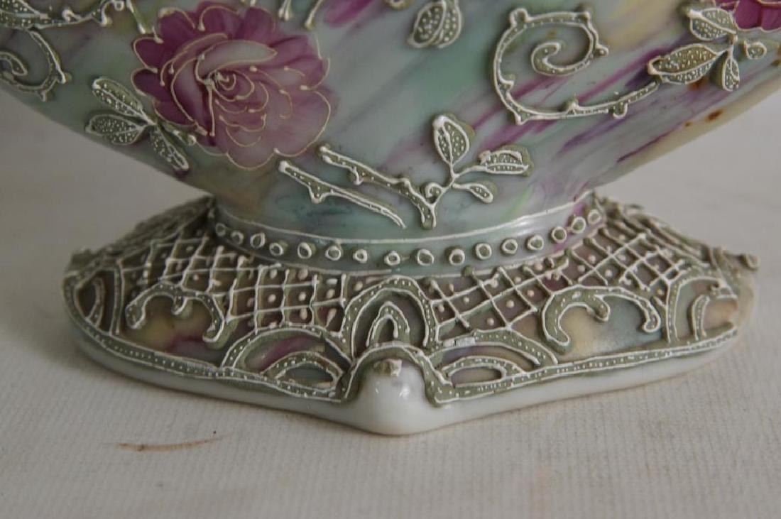 Nippon vases & porcelain box - 8
