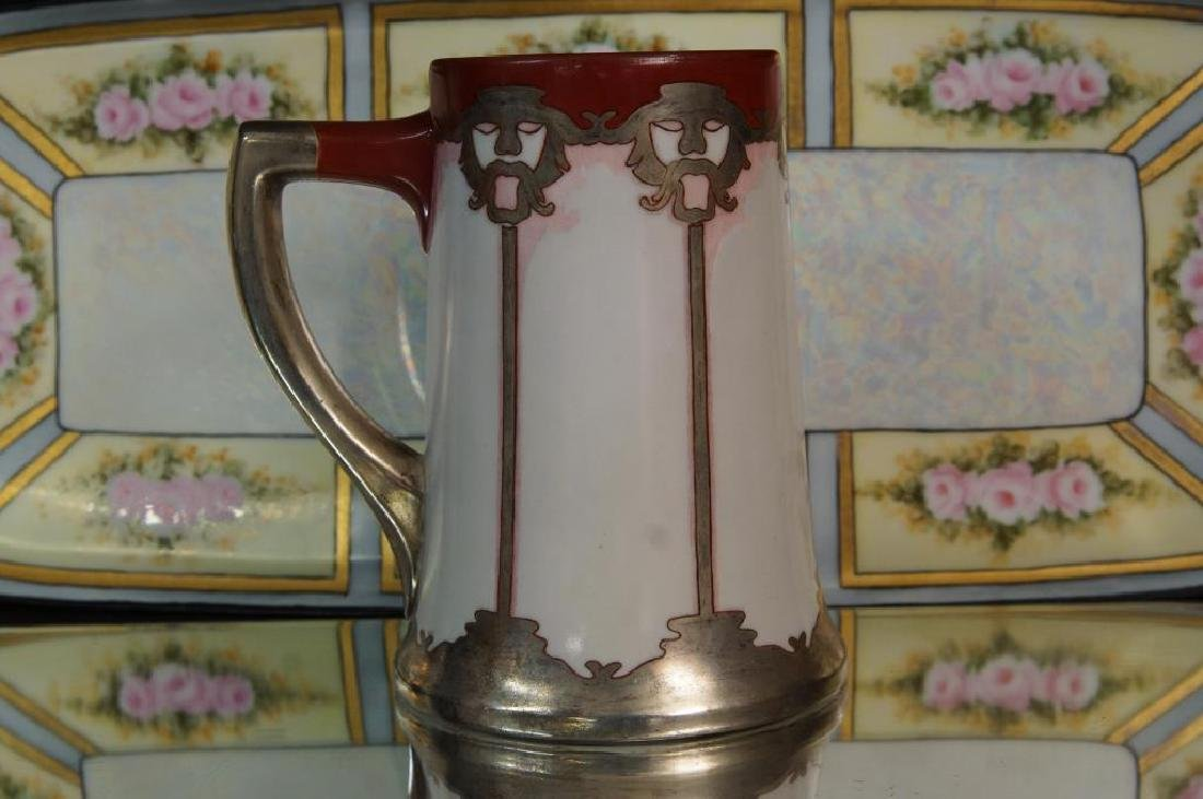 Art Nouveau plate, tray, & mug - 2