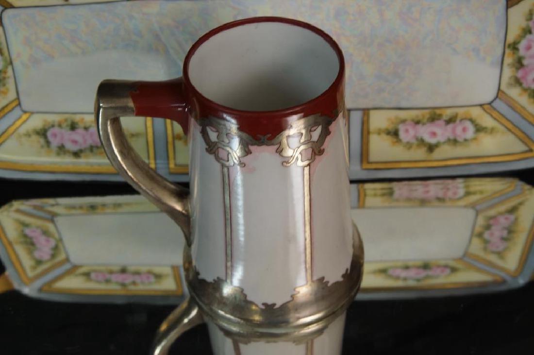 Art Nouveau plate, tray, & mug - 3