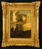 Jean Mannheim (1863-1945) oil on board
