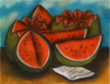 Frida Kahlo (1907 - 1954) Pastel Drawing