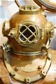 U.S. Navy brass Diving Helmet with Custom Stand