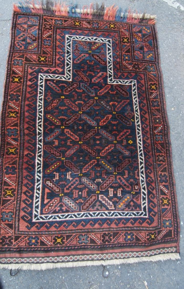 19th c. Beluch prayer rug - 3