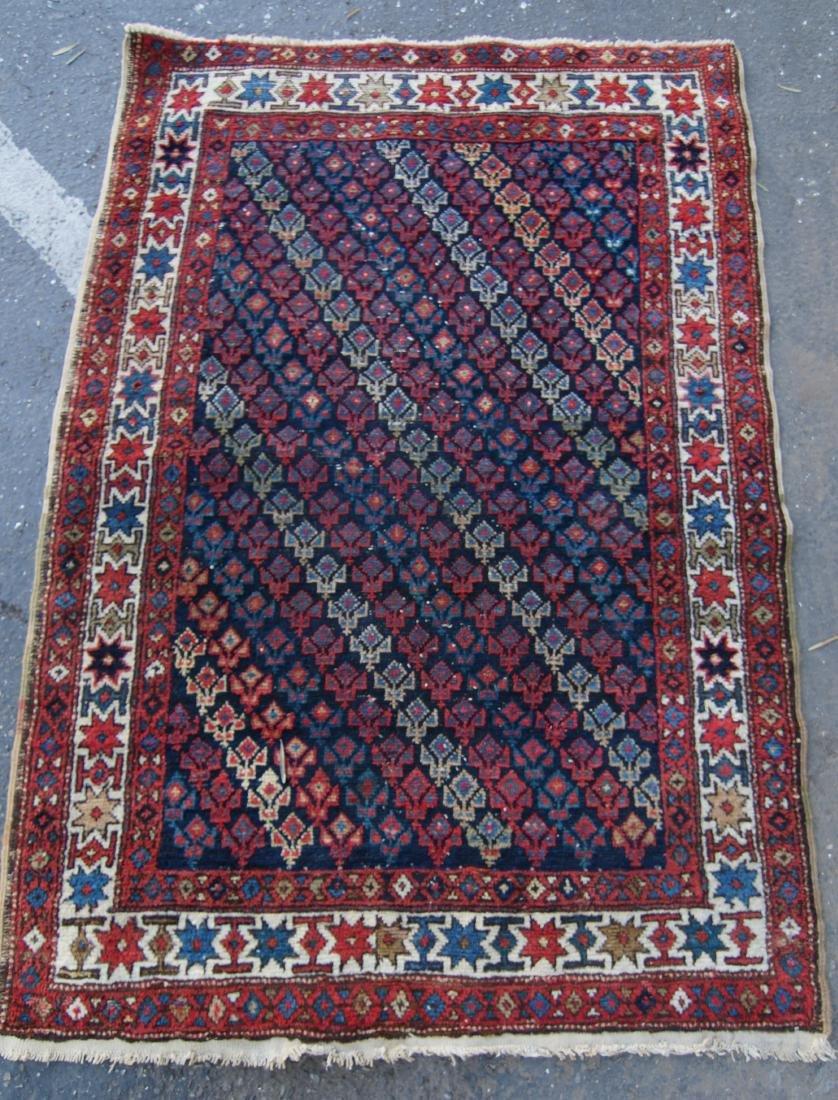 """19th c.  Caucasian rug - 35"""" x 52"""""""