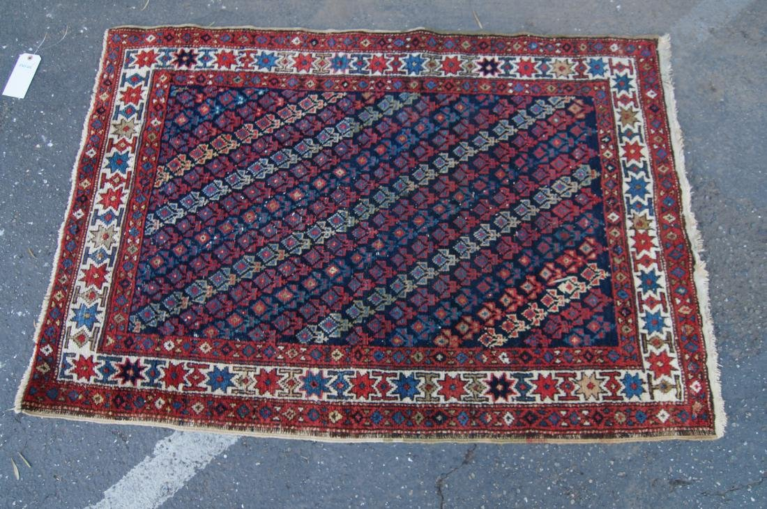 """19th c.  Caucasian rug - 35"""" x 52"""" - 4"""