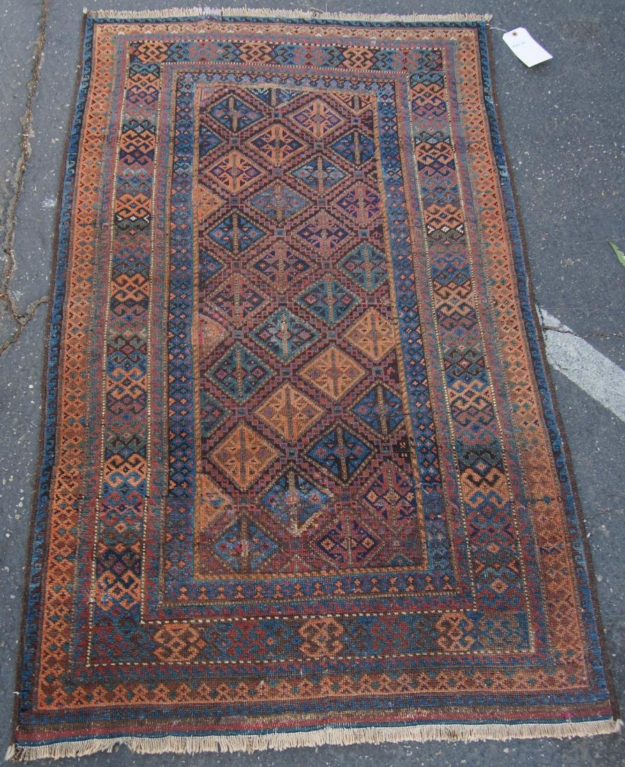 """19th cen. Beluch ( Persian)  rug - measures 35"""" x 56"""""""