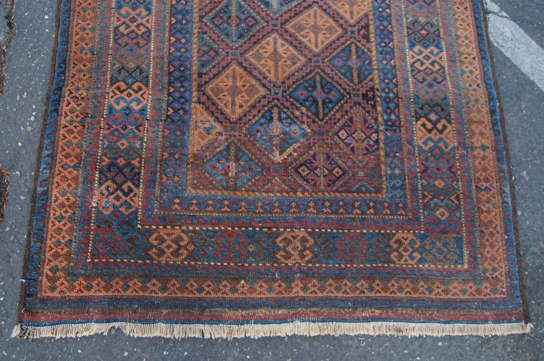 """19th cen. Beluch ( Persian)  rug - measures 35"""" x 56"""" - 2"""