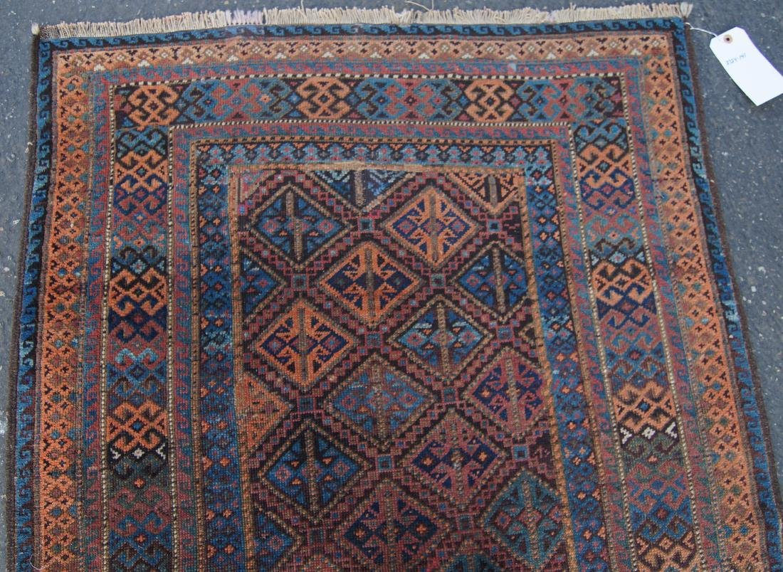 """19th cen. Beluch ( Persian)  rug - measures 35"""" x 56"""" - 3"""