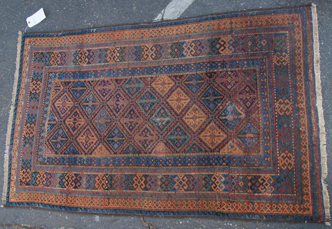 """19th cen. Beluch ( Persian)  rug - measures 35"""" x 56"""" - 4"""