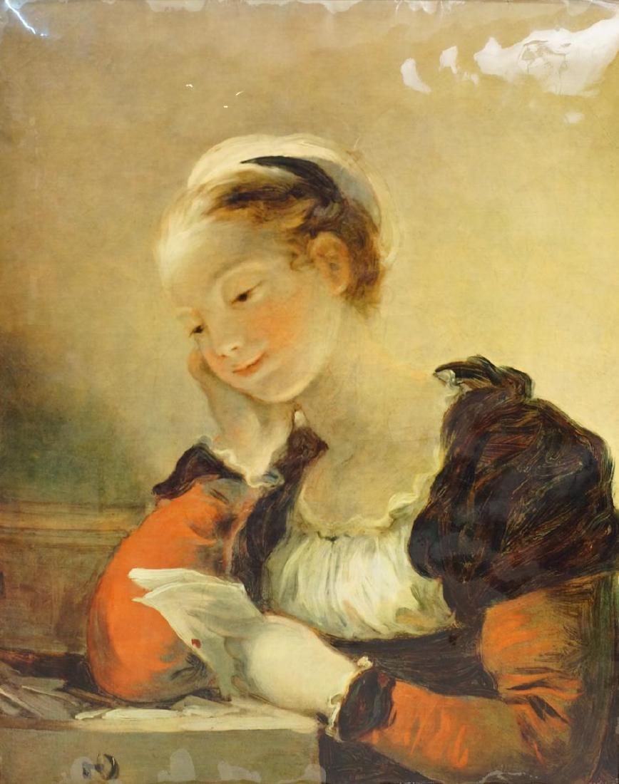 After Jean-Honoré Fragonard painting on board - 2