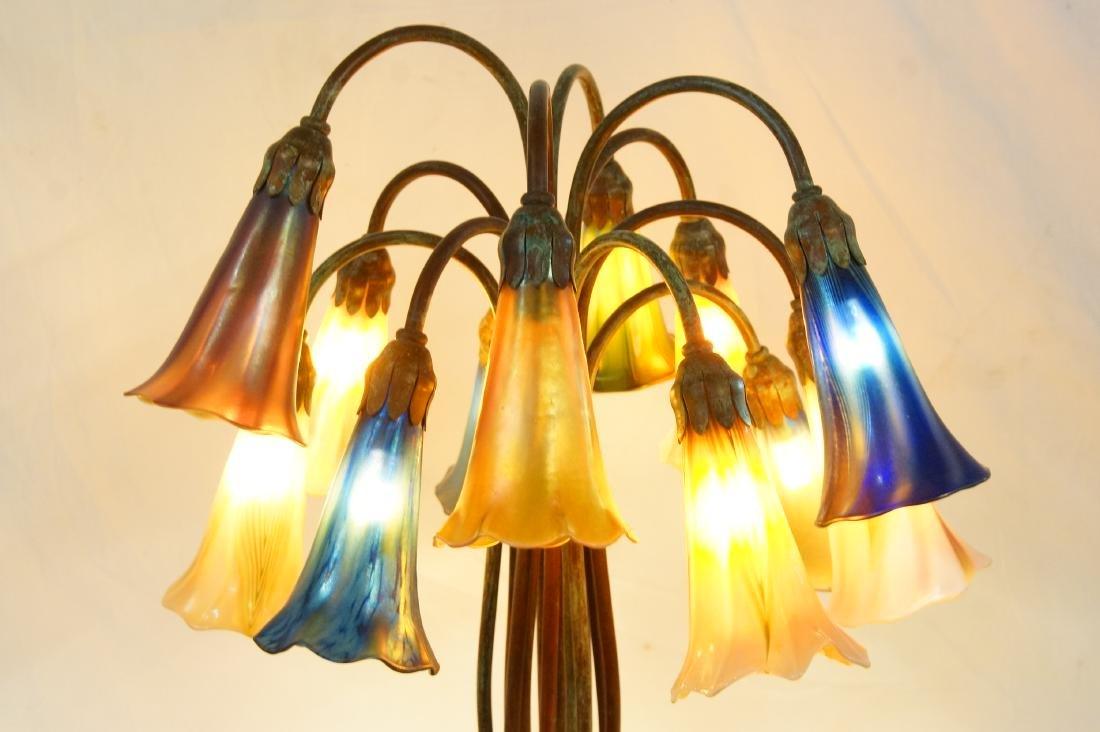 Tiffany style 12-light lily desk lamp - 10
