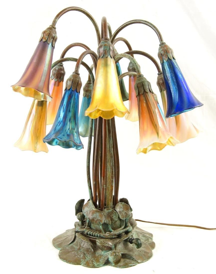 Tiffany style 12-light lily desk lamp