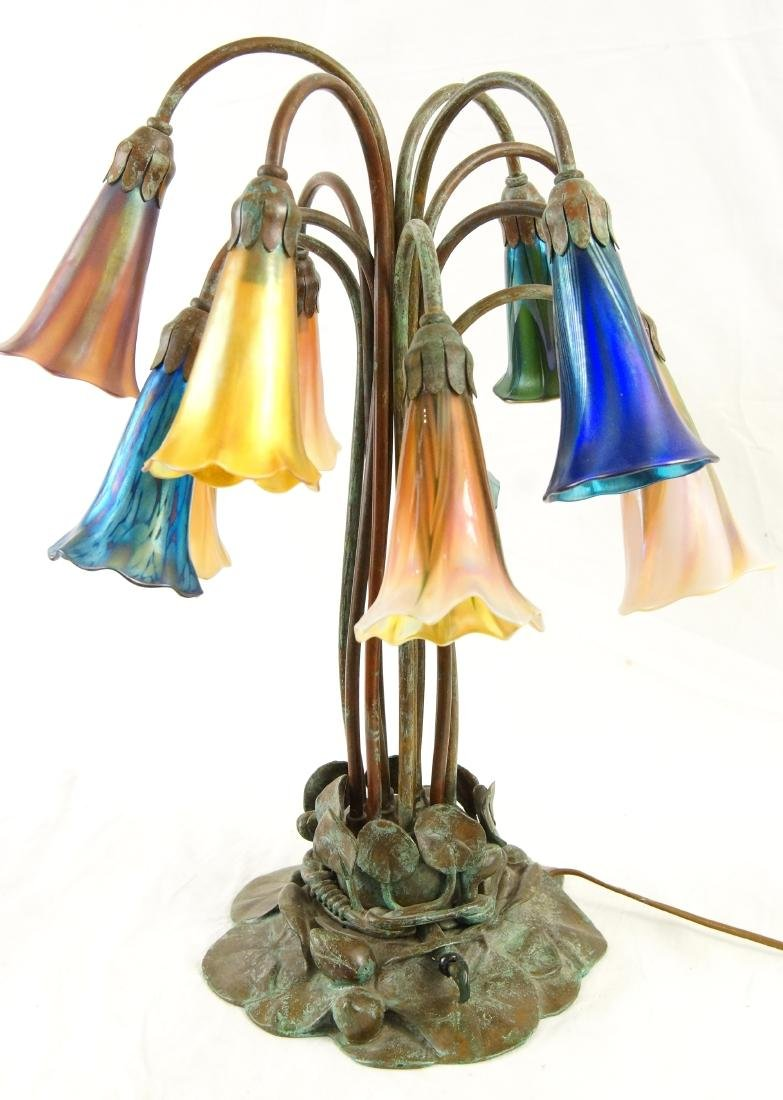 Tiffany style 12-light lily desk lamp - 2