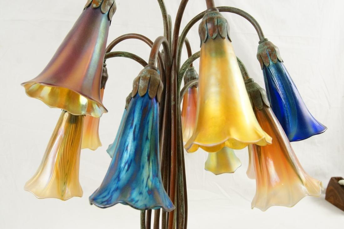 Tiffany style 12-light lily desk lamp - 4
