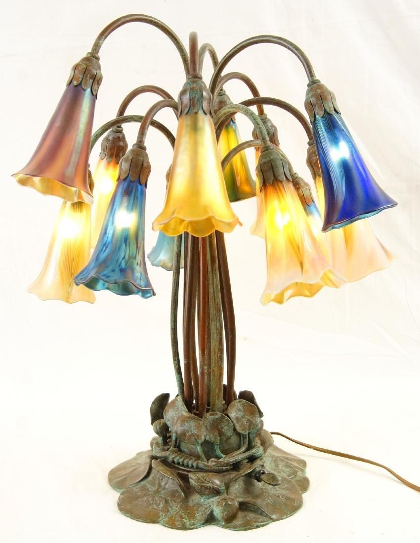 Tiffany style 12-light lily desk lamp - 6