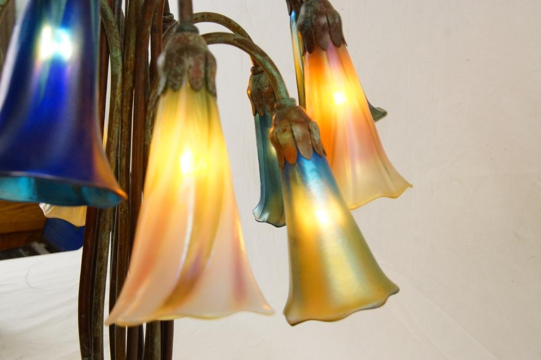 Tiffany style 12-light lily desk lamp - 7
