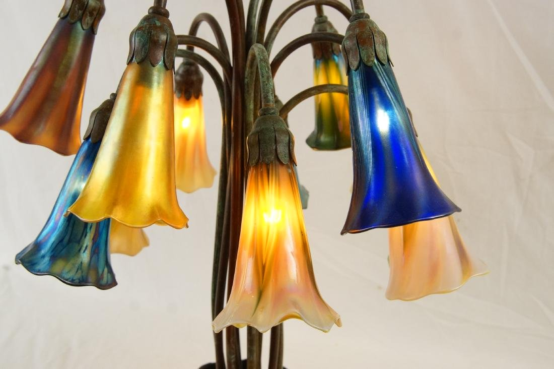 Tiffany style 12-light lily desk lamp - 8