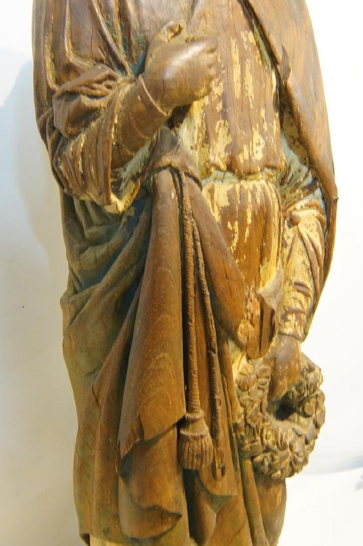 19th century French Wood Carved Santo - 10