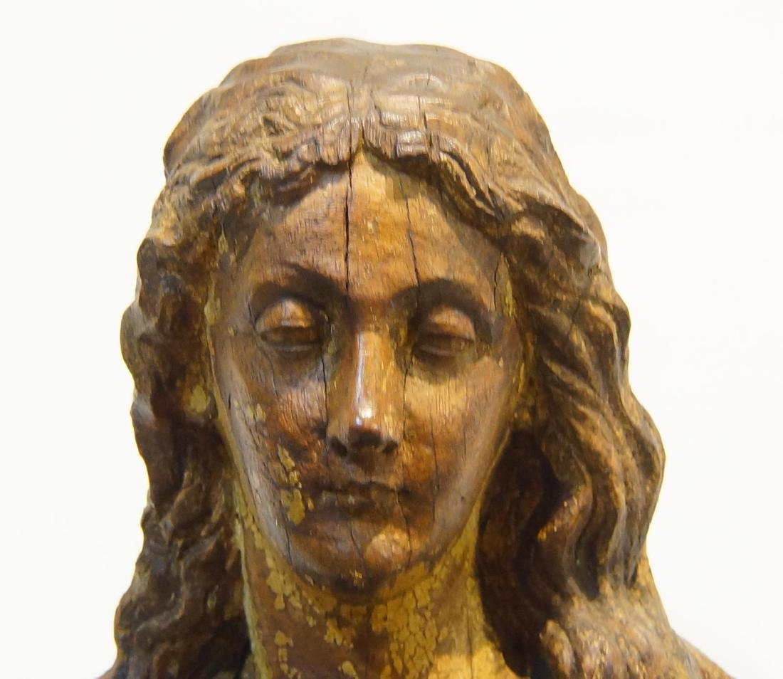 19th century French Wood Carved Santo - 2