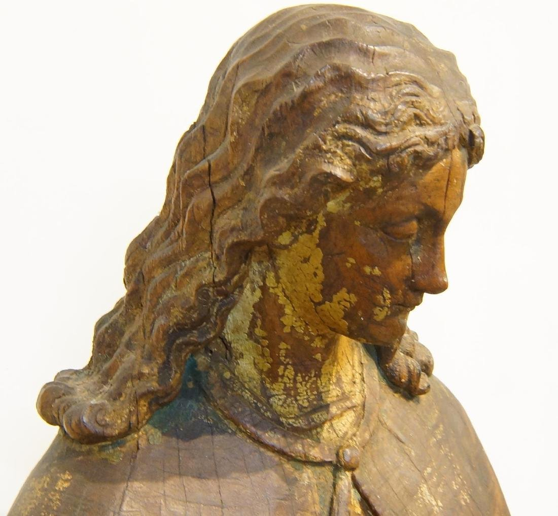 19th century French Wood Carved Santo - 3