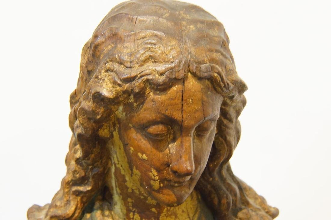 19th century French Wood Carved Santo - 6