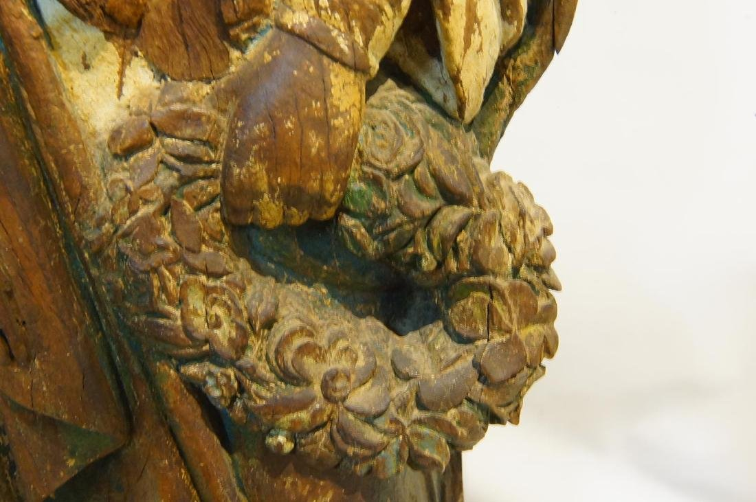 19th century French Wood Carved Santo - 9