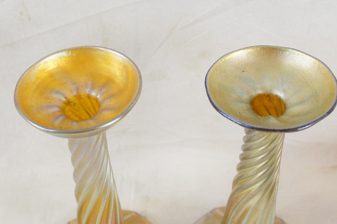 Tiffany pair candle sticks (LCT 3268) - 8
