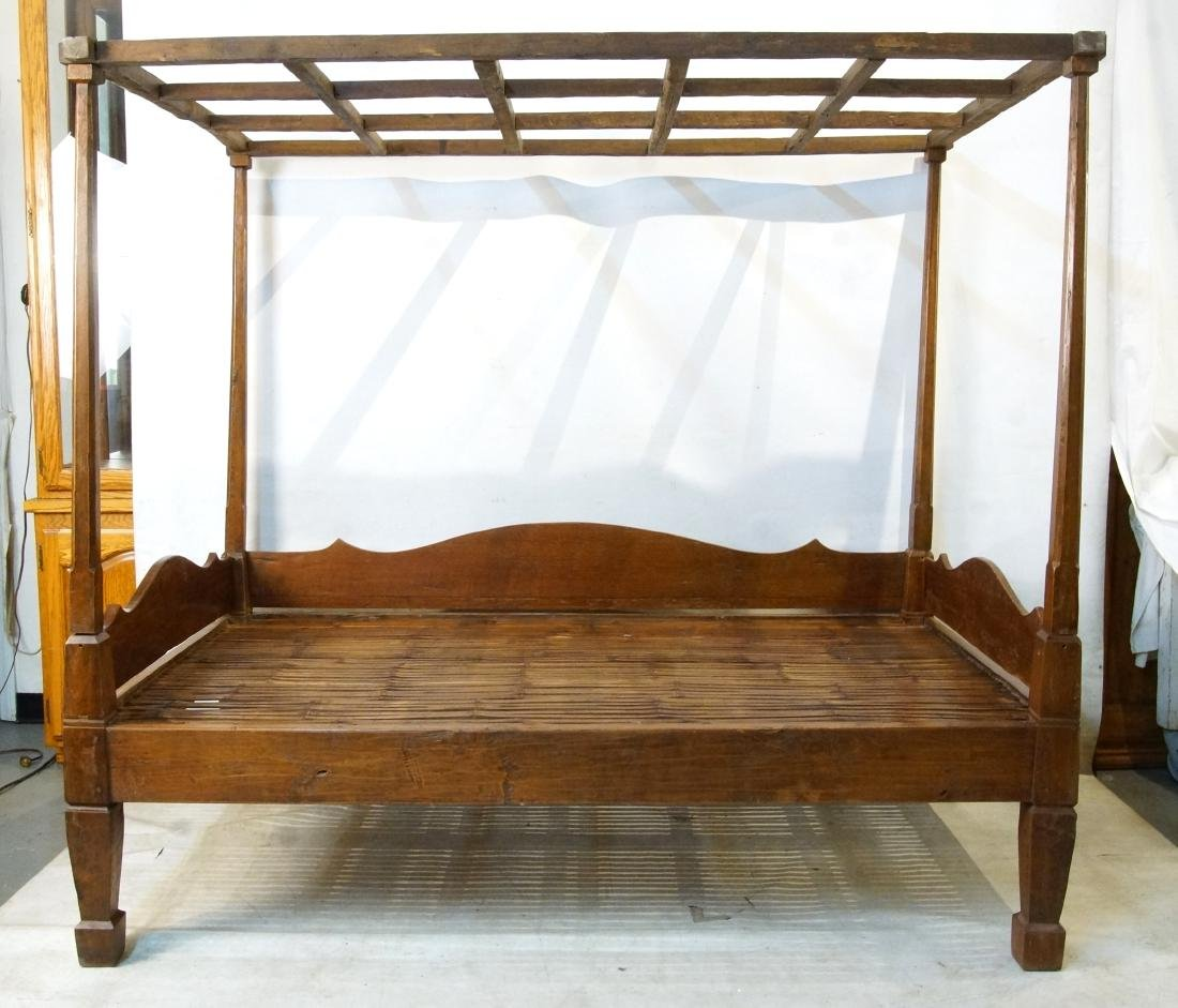Antique Japanese canopy bed
