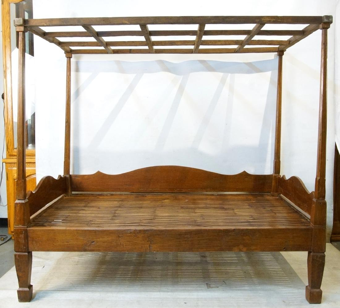 Antique Japanese canopy bed - 2