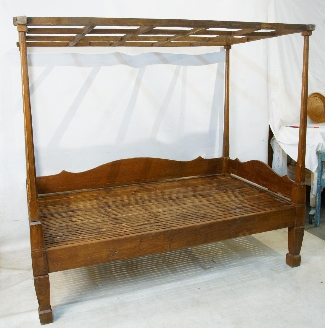 Antique Japanese canopy bed - 3