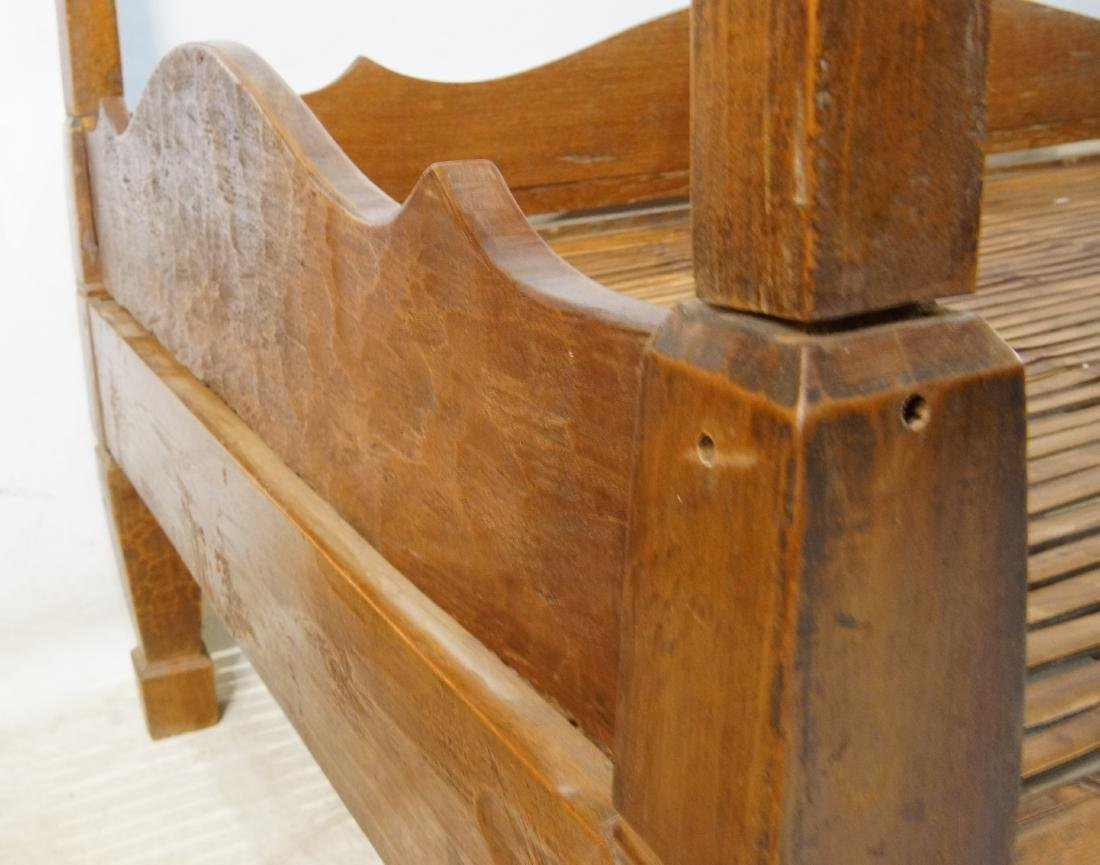 Antique Japanese canopy bed - 5