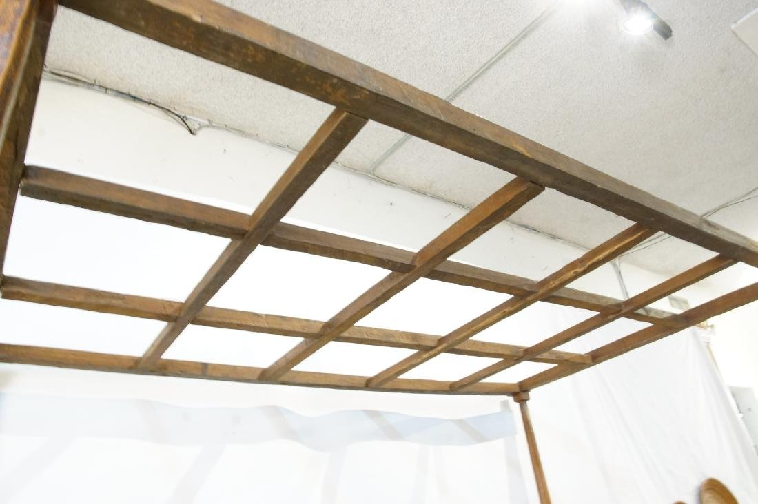 Antique Japanese canopy bed - 7