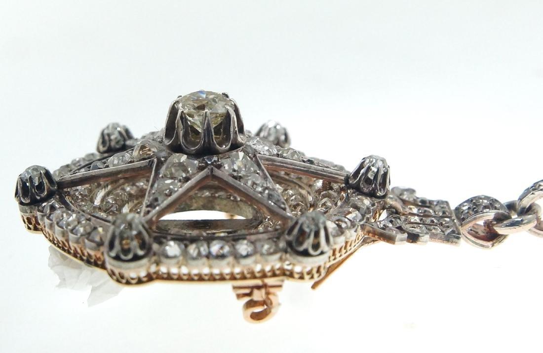 18kt gold Antique Star 10.28 ctw Diamond pendant - 3
