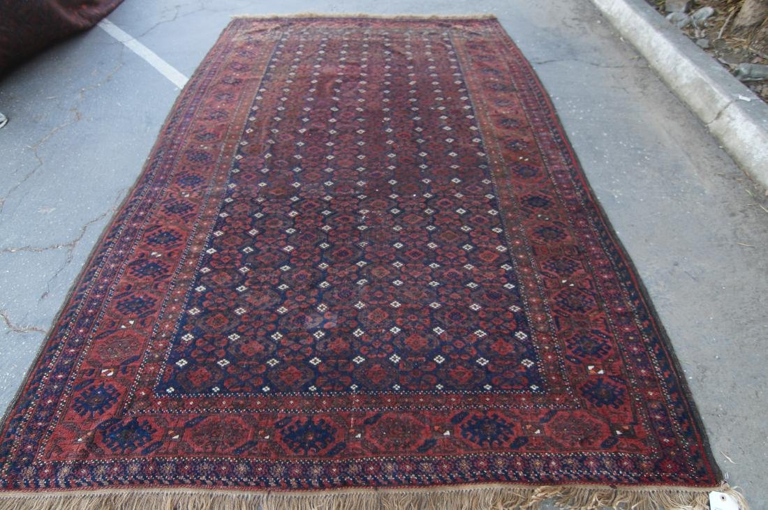 """19th C. Beluch rug -  excellent condition 72"""" x 116"""""""