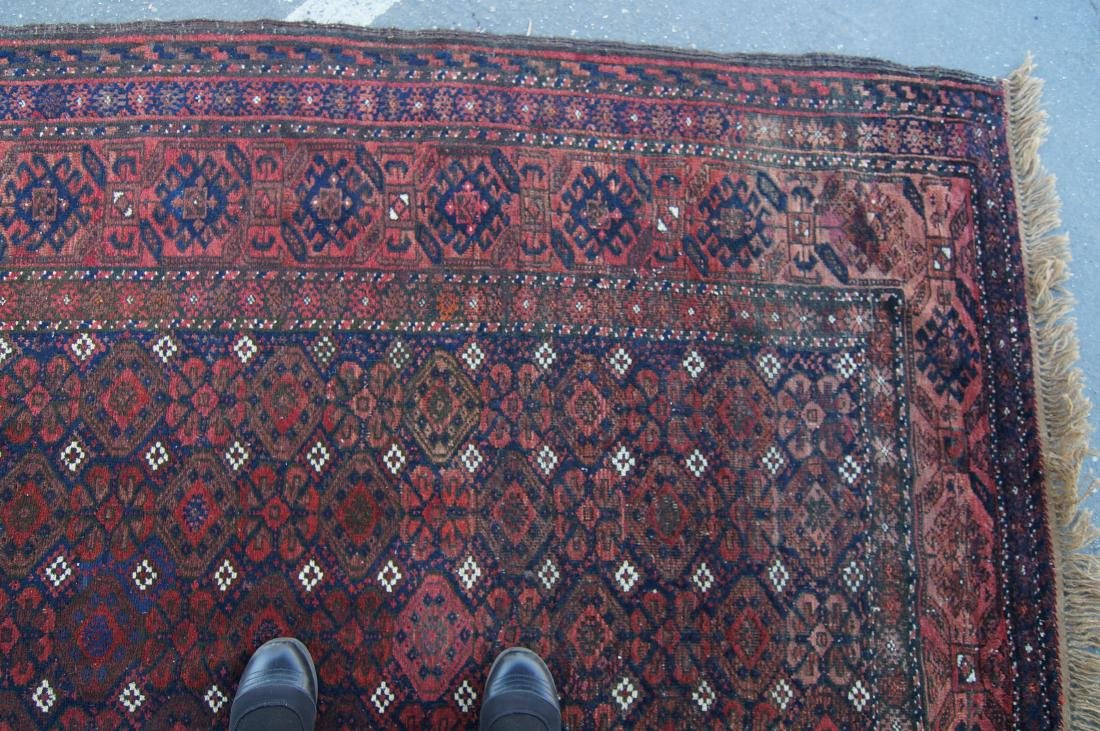 """19th C. Beluch rug -  excellent condition 72"""" x 116"""" - 6"""
