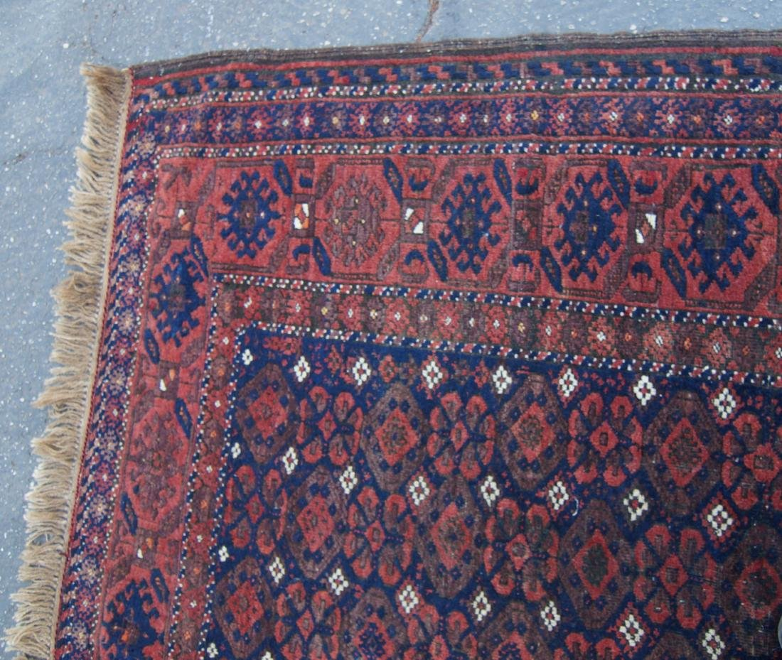 """19th C. Beluch rug -  excellent condition 72"""" x 116"""" - 7"""