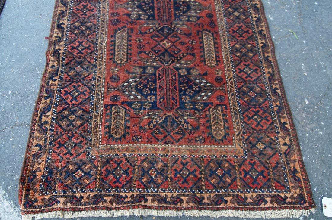 "19th cen. Persian Beluch rug -  37"" x 67"" - 5"
